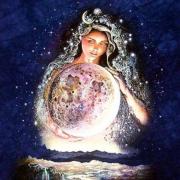 illustration of Greek moon goddess Selene